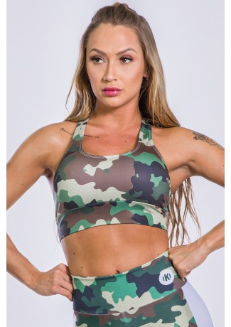 Top Estampa Digital Military | Ref: K2552-A
