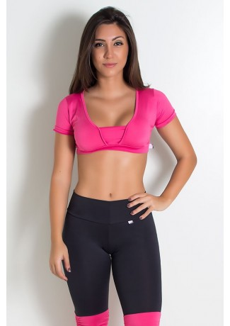 Cropped Bia Liso (Rosa Pink) | Ref: KS-F258-002