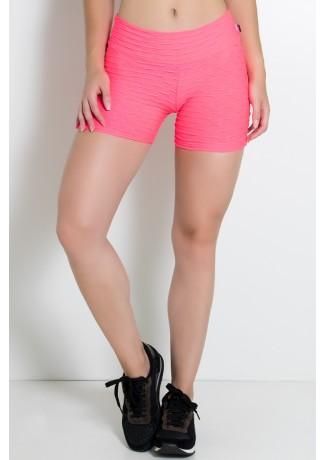 Shortinho Tecido Bolha Fluor (Rosa Fluor) | Ref: KS-F304 -001