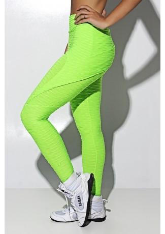 Calça Aranha Tecido Bolha Fluor (Verde Limão Fluor) | Ref: KS-F310-002