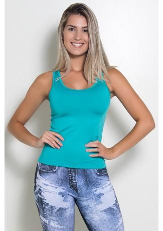 Camiseta Fitness Júlia  (Verde Esmeralda) | Ref: KS-F39-003