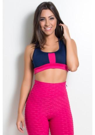 Top 2 Cores (Azul Marinho / Rosa Pink)   Ref: KS-F490-002