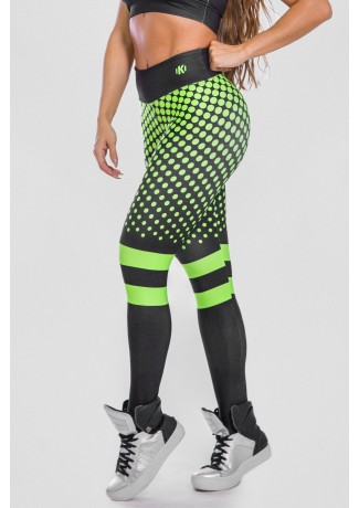 Calça Legging Estampa Digital  Neon Green | Ref: K2488-A