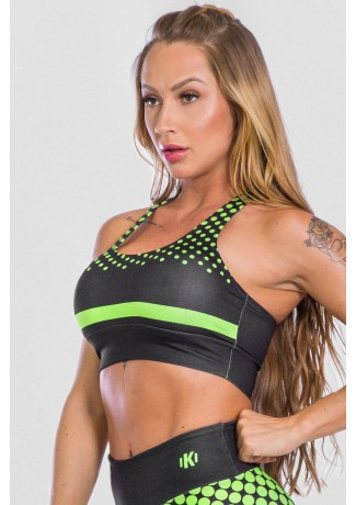 Top Estampa Digital Neon Green | Ref: K2489-A