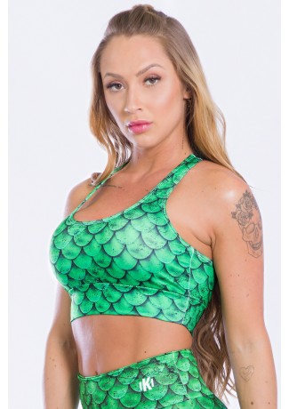 Top Estampa Digital Mermaid Green | Ref: K2498-A