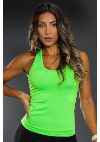 Camiseta Básica Sem Bojo (Verde Neon)   Ref: K2558-C