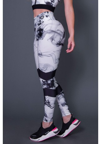 Calça Legging Black Abstract | Ref: K2616