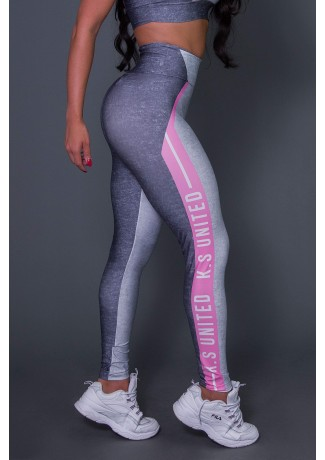 Calça Legging Pink Gray And Lead | Printed: K2657