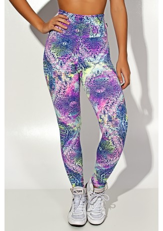 Legging Estampada Escama Colorida 5  | Ref: KS-F27-007
