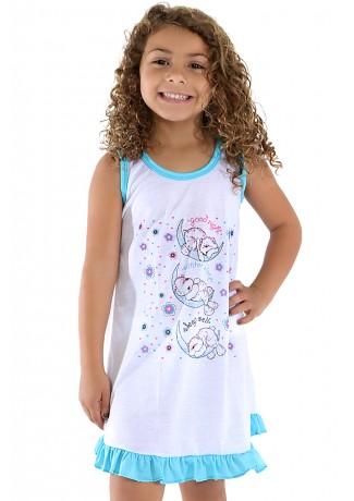 Camisola Infantil 060 (Azul com ursinho) AB Ref: CEZ-PA060-002