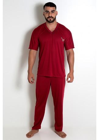 Pijama MAS. Manga Curta 091 (Vinho) CEZ-PA091-003