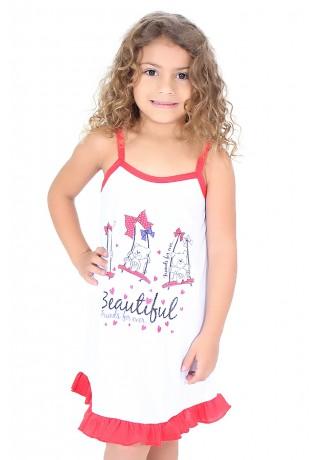 Camisola Infantil 141 (Vermelha com ursinho) | Ref: CEZ-PA141-002