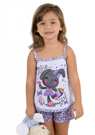 Baby-doll de malha Infantil 201 (Roxo)   Ref.: CEZ-PA201-001