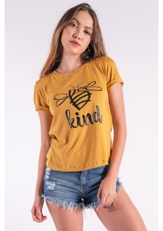 Blusa Nózinho com Silk Be Kind (Mostarda)   Ref: K2834-G