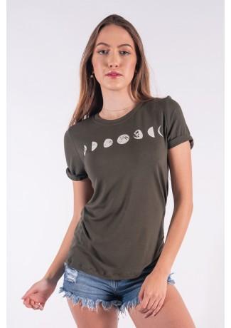 Blusa Nózinho com Silk Fases Da Lua (Verde Militar) | Ref: K2837-I