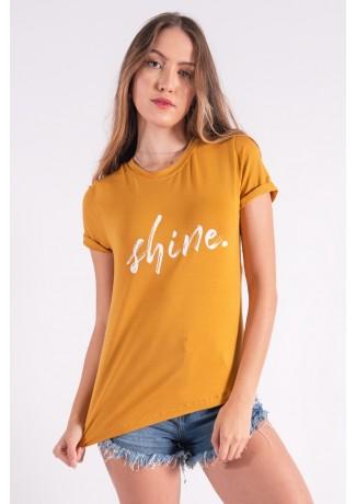 Blusa Nózinho com Silk Shine (Mostarda) | Ref: K2839-G