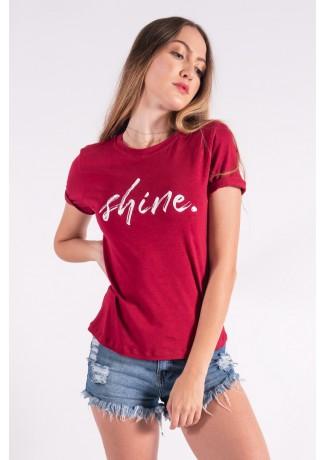 Blusa Nózinho com Silk Shine (Vinho) | Ref: K2839-E