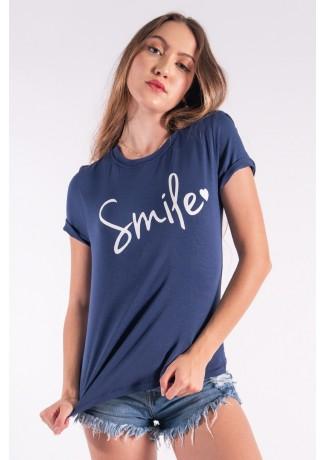 Blusa Nózinho com Silk Smile (Azul Marinho) | Ref: K2840-F