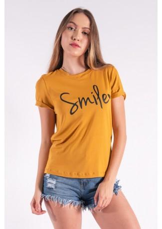 Blusa Nózinho com Silk Smile (Mostarda) | Ref: K2840-G