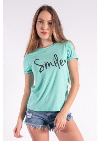 Blusa Nózinho com Silk Smile (Verde Água) | Ref: K2840-H