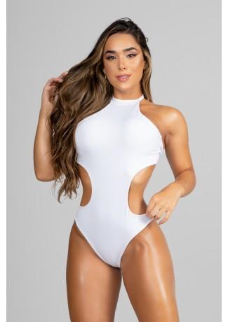 Body com Abertura Lateral e Bojo (Branco) | Ref: P01-5-B
