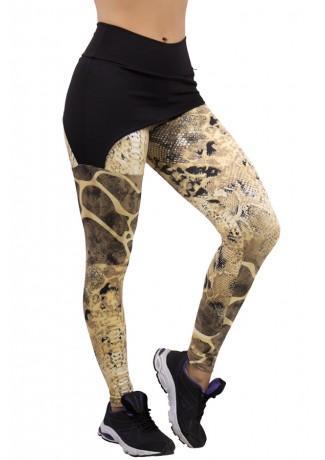 Calça Legging Samanta ( Calça Estampada com Tapa Bumbum Liso) | Ref: F204