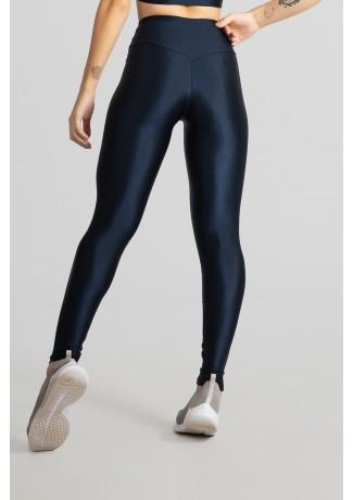 Calça Legging Tecido Platinado com Cós Triangular (Azul Marinho) | Ref: GO530-B
