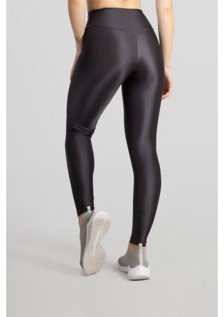 Calça Legging Tecido Platinado com Cós Triangular (Chumbo) | Ref: GO530-C