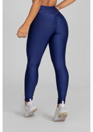 Calça Legging com Franzido Bumbum Up (Azul Marinho) | Ref: K2879-D