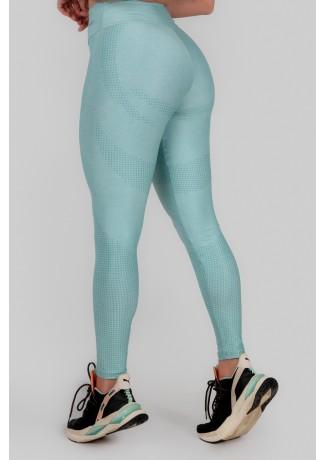 Calça Legging Estampa Digital Cós Duplo (Green Path) | Ref: K3013-A