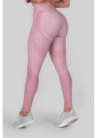 Calça Legging Estampa Digital Cós Duplo (Pink Dot) | Ref: K3011-A