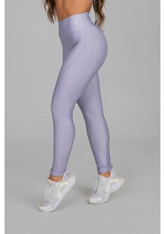 Calça Legging Estampa Digital com Cós Duplo (Usual Lilac) | Ref: K2915