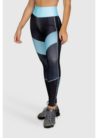 Calça Legging Fitness Estampa Digital Blue Points | Ref: GO280