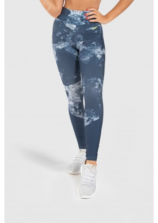 Calça Legging Fitness Estampa Digital Blue Splash | Ref: GO247