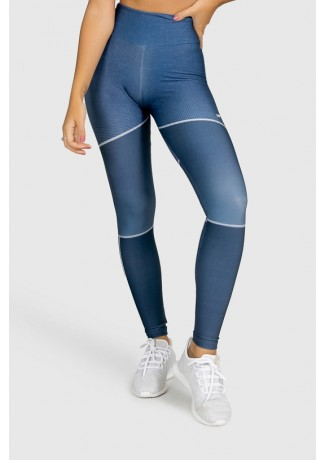 Calça Legging Fitness Estampa Digital Deep Blue | Ref: GO299