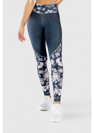 Calça Legging Fitness Estampa Digital Drawn Flowers | Ref: GO311