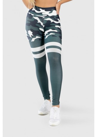 Calça Legging Fitness Estampa Digital Green Camo | Ref: GO263