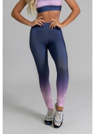 Calça Legging Fitness Estampa Digital Light Purple | Ref: GO358