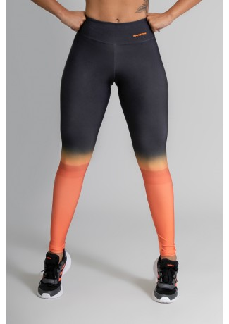 Calça Legging Fitness Estampa Digital Orange Mix | Ref: GO365