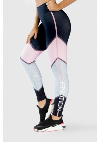 Calça Legging Fitness Estampa Digital Pink Arrow | Ref: GO274