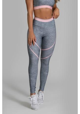Calça Legging Fitness Estampa Digital Pink Fusion | Ref: GO347