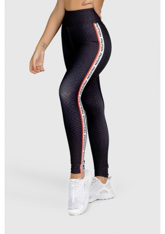 Calça Legging Fitness Estampa Digital Red Lines | Ref: GO326