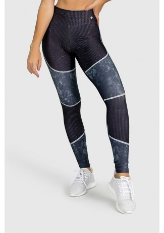 Calça Legging Fitness Estampa Digital Tricot Pattern | Ref: GO259