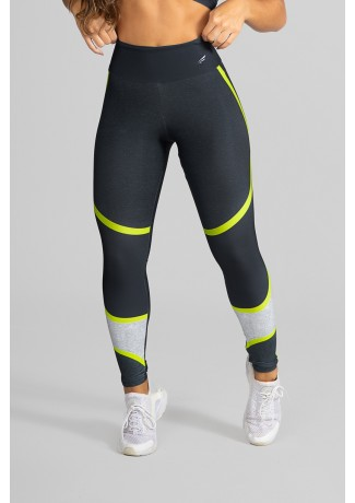 Calça Legging Fitness Estampa Digital Yellow Strings | Ref: GO265