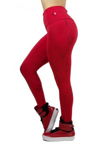 Calça Legging Cós Alto Tecido Jacquard | Ref: F544