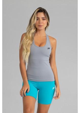 Camiseta com Bojo de Poliamida Básica (Cinza) | Ref: GO5-J