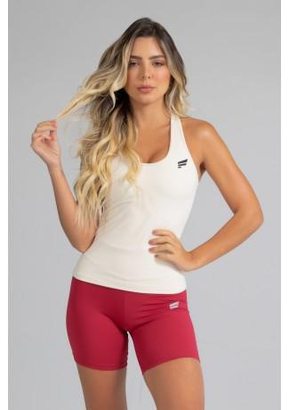 Camiseta com Bojo de Poliamida Básica (Off-White) | Ref: GO5-D