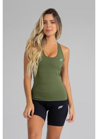 Camiseta com Bojo de Poliamida Básica (Verde Militar) | Ref: GO5-I