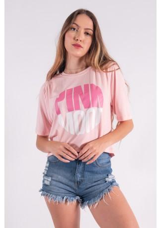Cropped Maxi com Silk Pink Mood (Rosa bebê) | Ref: K2854-D
