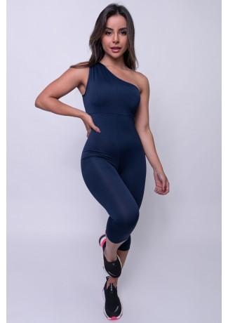 Macaquinho Liso de Ombro (Azul Marinho) | Ref: KS-F176-001